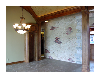 Example of an Interior Stucco wall